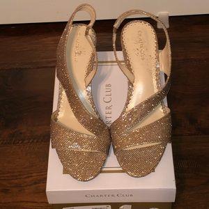 Charter Club Laila Gold Heels
